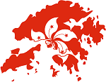 Hong Kong Flag Map